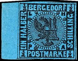 1/2 - 4 S. Wappen, Dabei Die 1/2 S. Mit Linkem Bogenrand, 5 Werte Komplett, Ungebraucht, Die 3 S. Mittig Helle Stelle, S - Bergedorf