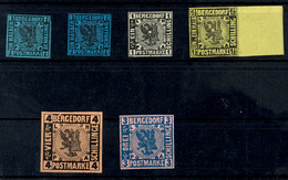 1/2 Schilling Bis 4 Schilling, Komplett = 6 Werte Inkl. Der Seltenen Mi.-Nr. 1b, Tadellos Postfrisch, Teils Gepr., Mi. 6 - Bergedorf