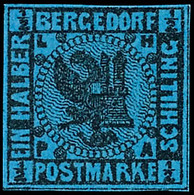 1/2 Sch. A. Blau, Farbfrisches Prachtstück, Ungebraucht Mit Originalgummierung Und Nur Kleinen Haftpunkten, Quasi Wie Po - Bergedorf