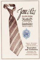 Original-Werbung/ Anzeige 1930 - FARBANZEIGE / ELITE KRAWATTEN / JENE / KREFELD / SAARBRÜCKEN - Ca. 65 X 100 Mm - Pubblicitari
