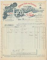 Paris - P.Desfeux - Carton Cuir Et Bitumé Pour Toitures - Cartonnerie à Canapville Par Ticheville Le Sap - Billancourt - 1800 – 1899