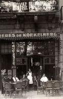 Carte Photo Originale Terrasse Du Royal Midi Proposant Les Bières De Koekelberg Vers 1910/20 - Luoghi