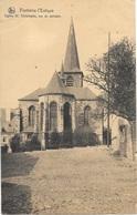 Fontaine-l'Evêque NA85: Eglise St Christophe, Vue De Derrière 1927 - Fontaine-l'Evêque