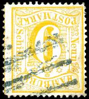 9 S. Orangegelb, Farbfrisch, Schwarzer Strichstempelentwertung, Eckbugspur, Seltene Marke, Kurzbefund Lange BPP, Mi. 2.5 - Hamburg