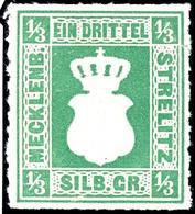 1/3 Sgr. Dunkelolivgrün, Tadellos Postfrisches Kabinettstück, Gepr. Berger BPP, Mi. 180.- - Unterbewertet, Zuschlag In U - Mecklenburg-Strelitz