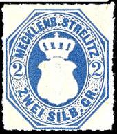 2 Sgr. Dunkelgrauultramarin, Tadellos Postfrisches Kabinettstück, Gepr. Pfenninger, Mi. 120.- - Unterbewertet, Zuschlag  - Mecklenburg-Strelitz