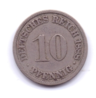DEUTSCHES REICH 1888 A: 10 Pfennig, KM 4 - [ 2] 1871-1918 : Imperio Alemán