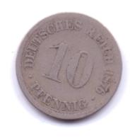 DEUTSCHES REICH 1876 D: 10 Pfennig, KM 4 - [ 2] 1871-1918 : Imperio Alemán
