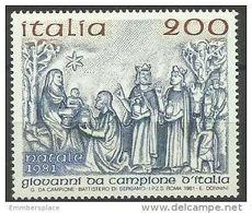 Italy - 1981 Christmas 200L MNH **   SG 1740  Sc 1496 - 1981-90: Nieuw/plakker