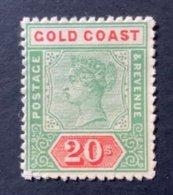 10099 - RARE Gold Coast Victoria 20 S. Rouge Et Vert Neuf No 34 ( Cote 5000 Euros) Départ Seulement 1.00 CHF - Gold Coast (...-1957)