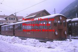 Reproduction D'une Photographie D'un Train BOB Du Chemin De Fer à Crémaillère En Suisse En 1970 - Reproductions