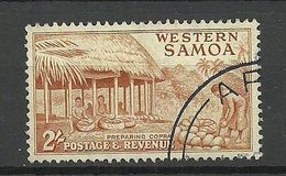 WESTERN SAMOA 1952 Michel 105 O Village Life Dorfleben - Samoa