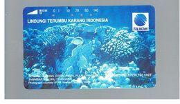 INDONESIA - TELKOM  -MARINE LIFE: CORAL REEF   - USED - RIF. 10380 - Indonésie
