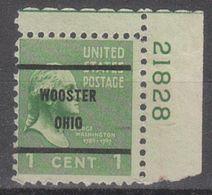 USA Precancel Vorausentwertung Preo, Bureau Ohio, Wooster 804-61, Plate# - Etats-Unis