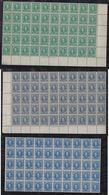 Venezuela Revenue Mi# 90+92+95 ** MNH 3 Blocks Of 50 Sucre 1904 - Venezuela