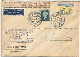 HOLANDA 1949 PRIMER VUELO KLM AMSTERDAM PARAMARIBO - Period 1949-1980 (Juliana)