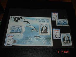 FRANCE  ANNEE 2009  NEUFS N° 4350  4351   ET FEUILLE N° F4350    PROTECTION DES POLES ET DES GLACIERS - Sellos