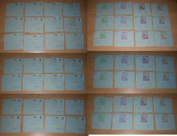 Honduras 1982-88 Christmas XMAS Overprint 28 Different Aerogramme Stationery ** MNH Not Folded - Honduras