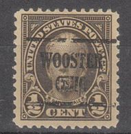 USA Precancel Vorausentwertung Preo, Locals Ohio, Wooster 551-225 - Etats-Unis