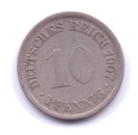 DEUTSCHES REICH 1907 F: 10 Pfennig, KM 12 - [ 2] 1871-1918 : Imperio Alemán