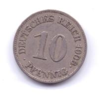 DEUTSCHES REICH 1906 E: 10 Pfennig, KM 12 - [ 2] 1871-1918 : Imperio Alemán