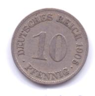 DEUTSCHES REICH 1906 D: 10 Pfennig, KM 12 - [ 2] 1871-1918 : Imperio Alemán
