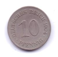 DEUTSCHES REICH 1904 E: 10 Pfennig, KM 12 - [ 2] 1871-1918 : Imperio Alemán