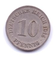 DEUTSCHES REICH 1904 A: 10 Pfennig, KM 12 - [ 2] 1871-1918 : Imperio Alemán