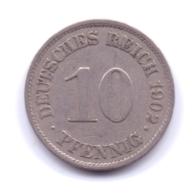 DEUTSCHES REICH 1902 A: 10 Pfennig, KM 12 - [ 2] 1871-1918 : Imperio Alemán