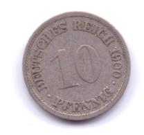 DEUTSCHES REICH 1900 F: 10 Pfennig, KM 12 - [ 2] 1871-1918 : Imperio Alemán