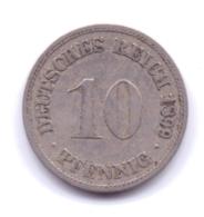 DEUTSCHES REICH 1899 D: 10 Pfennig, KM 12 - [ 2] 1871-1918 : Imperio Alemán