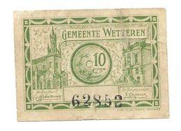 Noodgeld - Argent De Nécessité - Wetteren - [ 3] Occupazioni Tedesche Del Belgio