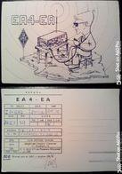 QSL - CARD  ALAGÓN DEL CAUDILLO, CACERES, EXTREMADURA - SPAGNA) - 1980 - Radio Amateur