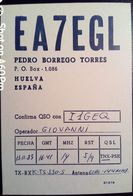 QSL - CARD  HUELVA, ANDALUSIA (ESPAÑA - SPAGNA) - 1983 - Radio Amateur