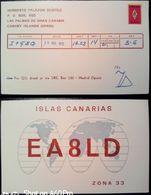 QSL - CARD  LAS PALMAS DE GRAN CANARIA (ESPAÑA - SPAGNA) - 1975 - Radio Amateur