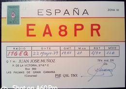 QSL - CARD  LAS PALMAS DE GRAN CANARIA (ESPAÑA - SPAGNA) - 1979 - Radio Amateur