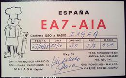 QSL - CARD  MALAGA, COSTA DEL SOL (ESPAÑA - SPAGNA) - 1978 - Radio Amateur