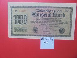 Reichsbanknote 1000 MARK 1922 VARIANTE CIRCULER (B.16) - [ 3] 1918-1933 : Repubblica  Di Weimar