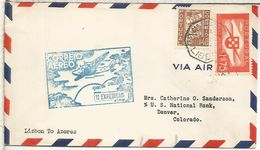 PORTUGAL 1939 LISBOA A AZORES HORTA PRIMER VUELO - Poste Aérienne