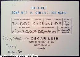 QSL - CARD AVILES, ASTURIE (ESPAÑA - SPAGNA) - 1983 - Radio Amateur