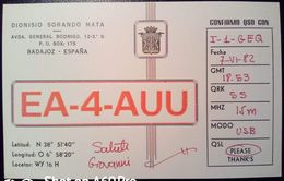 QSL - CARD BADAJOZ, EXTREMADURA (ESPAÑA - SPAGNA) - 1982 - Radio Amateur