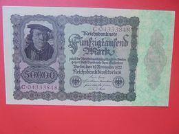Reichsbanknote 50.000 MARK 1922 VARIANTE N°1 CHIFFRES ROUGE-FOND FONCE CIRCULER (B.16) - [ 3] 1918-1933 : Repubblica  Di Weimar