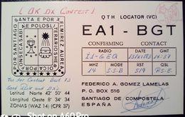 QSL - CARD SANTIAGO DE COMPOSTELA, GALICIA (ESPAÑA - SPAGNA) - 1983 - Radio Amateur
