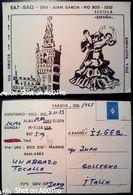 QSL - CARD SEVILLA - SIVIGLIA, ANDALUSIA (ESPAÑA - SPAGNA) - 1983 - Radio Amateur