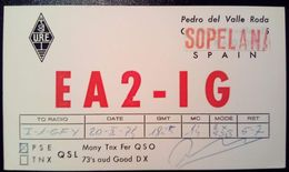 QSL - CARD SOPELANA, Paesi Baschi - Euskadi (ESPAÑA - SPAGNA) - 1974 - Radio Amateur