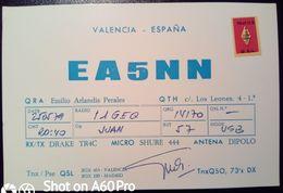 QSL - CARD VALENCIA (ESPAÑA - SPAGNA) - 1979 - Radio Amateur