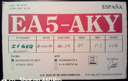 QSL - CARD VALENCIA (ESPAÑA - SPAGNA) - 1980 - Radio Amateur