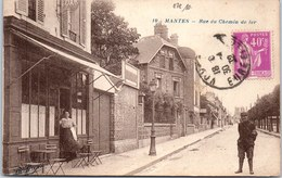 78 MANTES - La Rue Du Chemin De Fer - Mantes La Jolie
