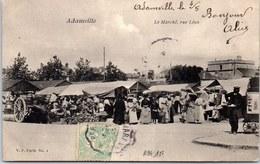 94 ADAMVILLE - Le Marché Rue Léon. - France