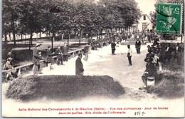94 SAINT MAURICE - Asile National, Le Jeux De Boules. - France